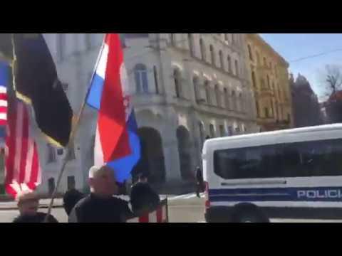 VIDEO: Neonacisti marširali Zagrebom