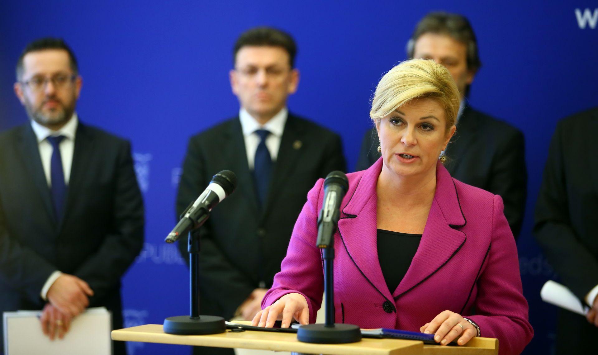 DRUGA GODIŠNJICA MANDATA Grabar-Kitarović: 'Bila sam jamac stabilnosti'