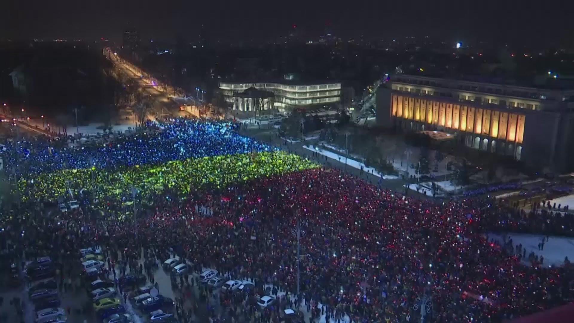 VIDEO: Pogledajte prosvjed u Gradu Bukureštu