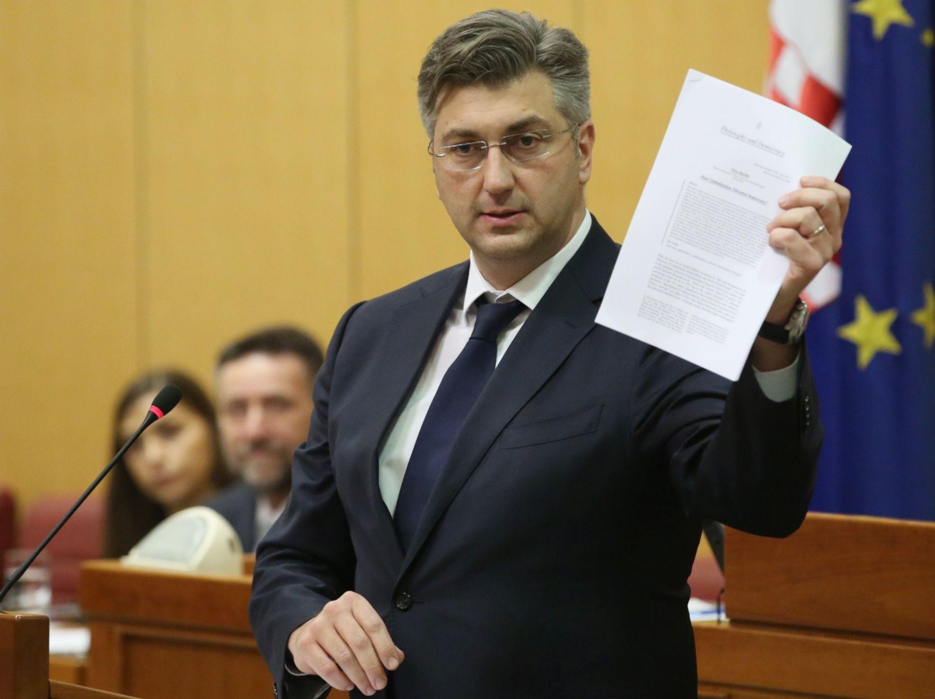 AKTUALNO PRIJEPODNE Rasprava o prijedlogu opoziva ministrice Murganić