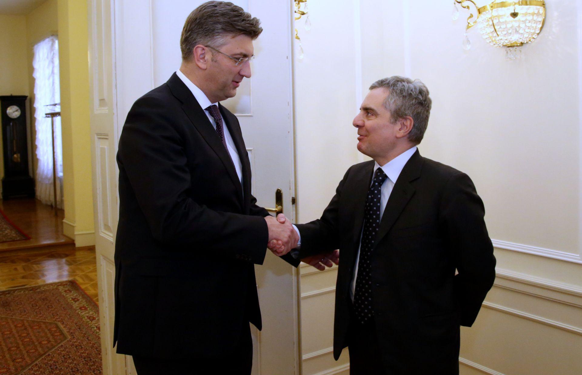 BANSKI DVORI: Plenković s potpredsjednikom EIB-a Scannapiecom