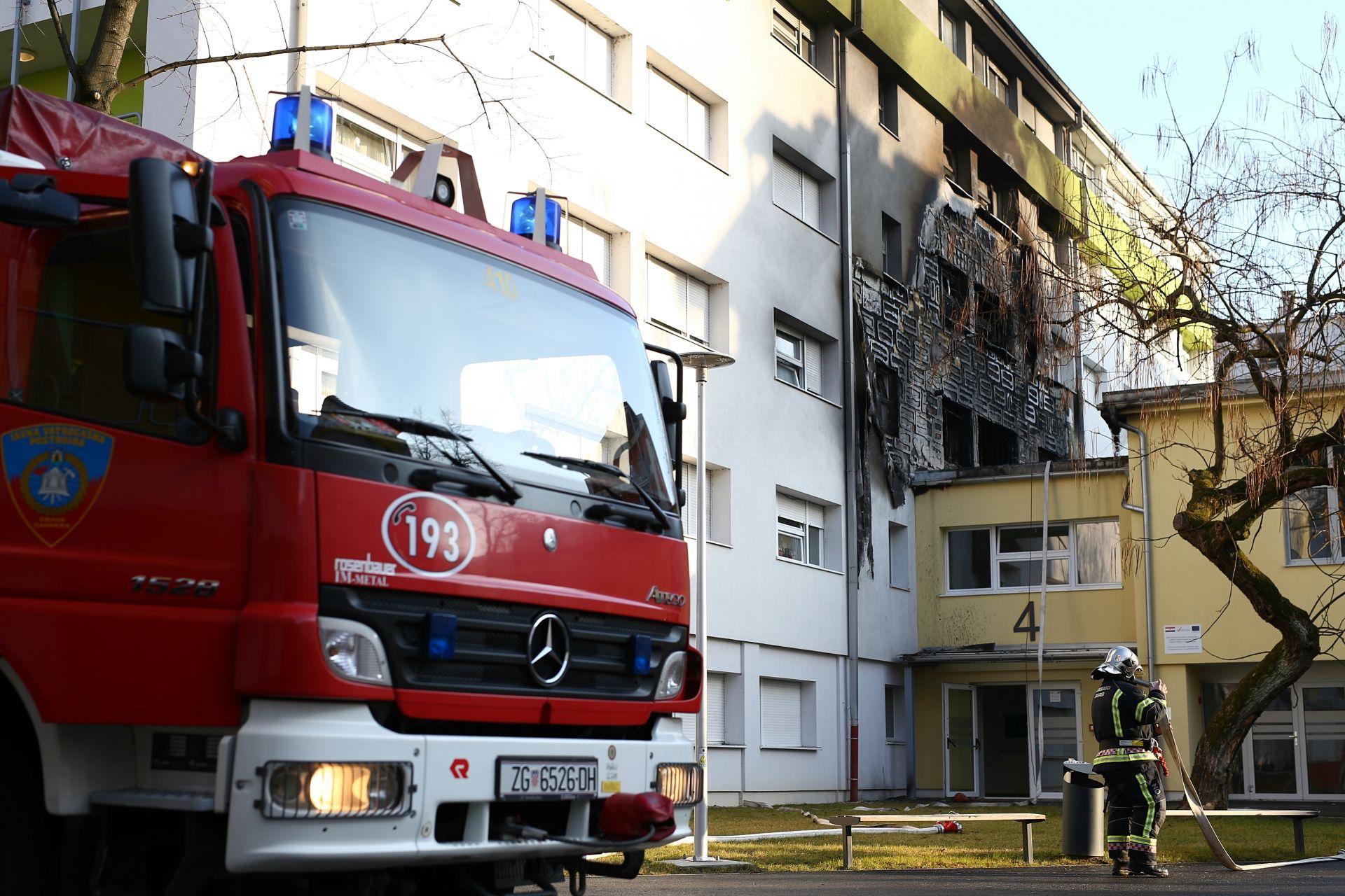 POŽAR U STUDENTSKOM DOMU: Umrla žena na koju je naletjelo vatrogasno vozilo