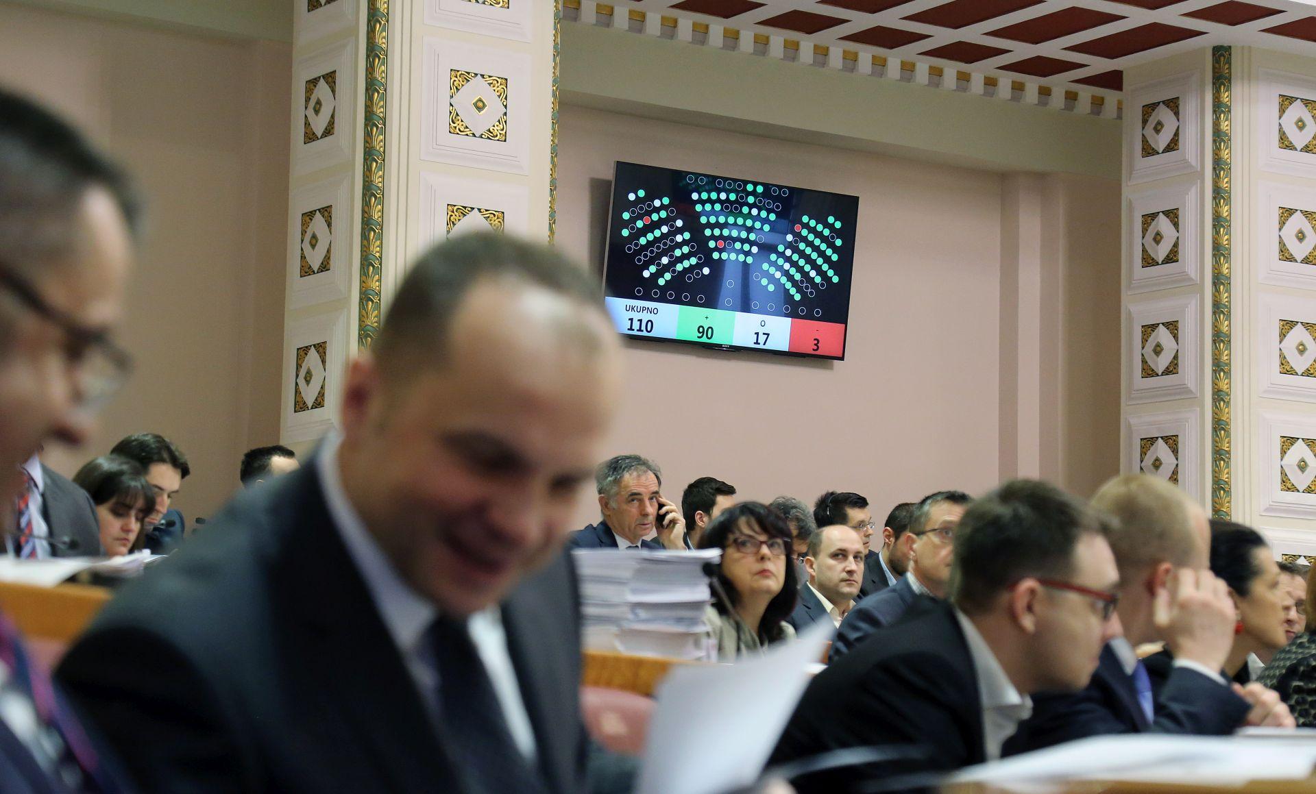 SABOR Zastupnici proširili dnevni red i glasovali