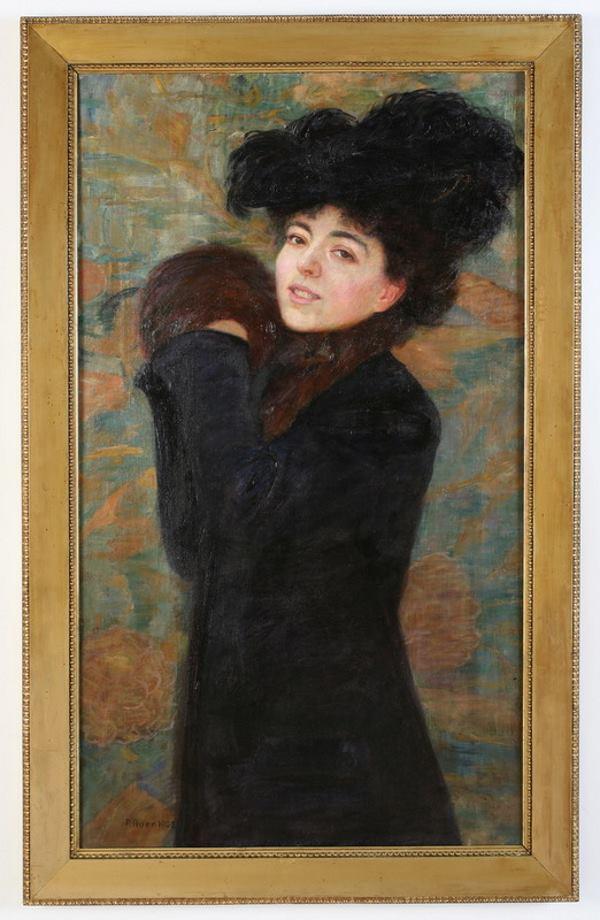 Robert Auer, Portret gospođe A. (Leopoldina Schmidt-Auer)