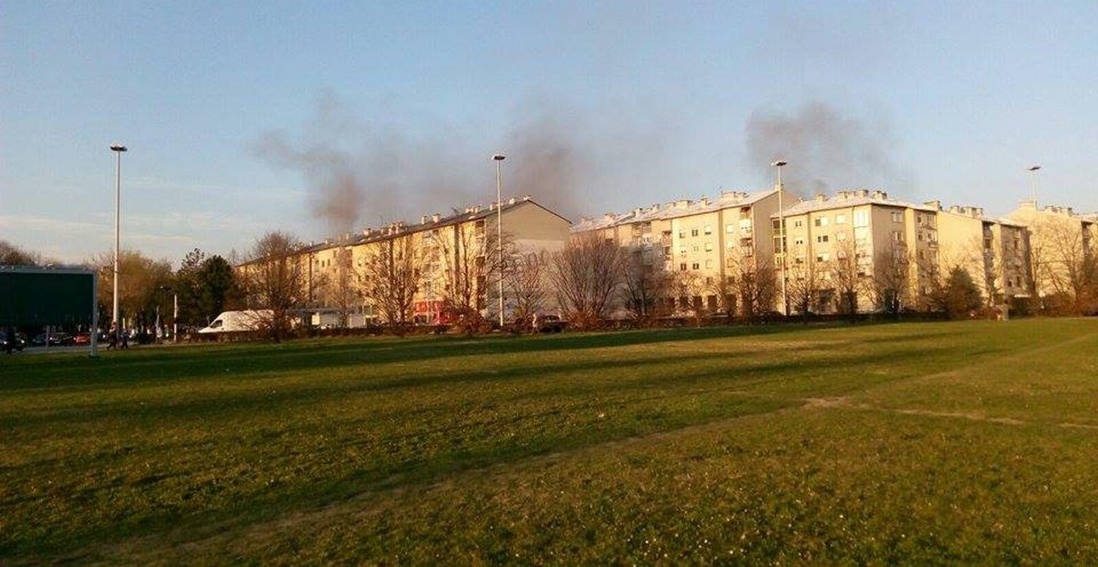 ZAGREB Na Jarunu gori zgrada, stanari evakuirani