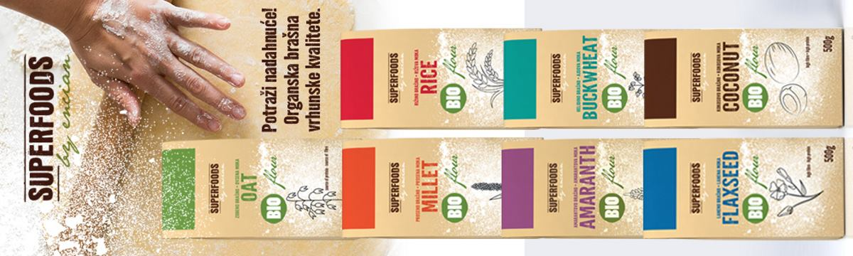 FOTO: Linija organskih brašna Superfoods by Encian