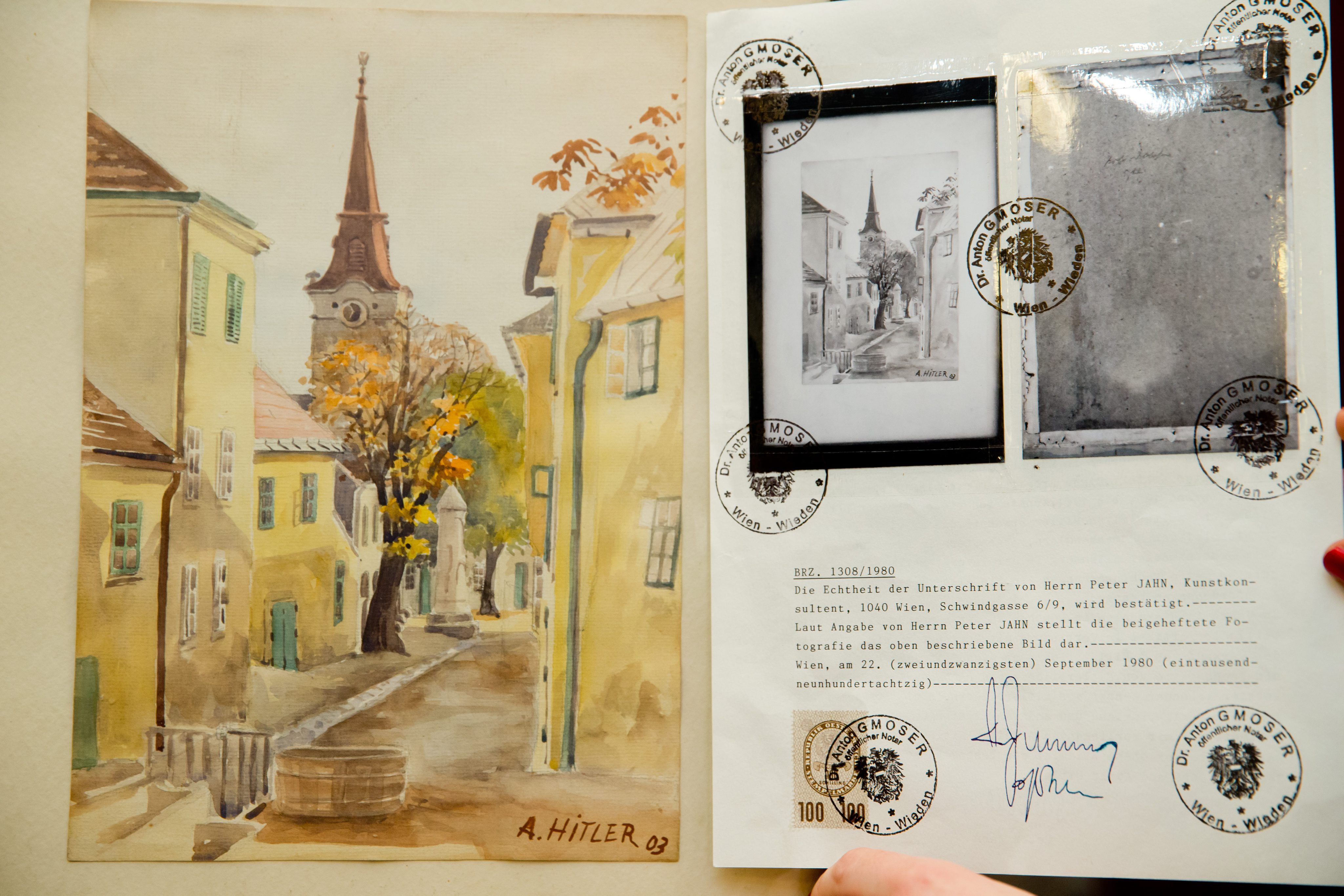 Hitlerova slika na talijanskoj izložbi o umjetnosti i ludilu