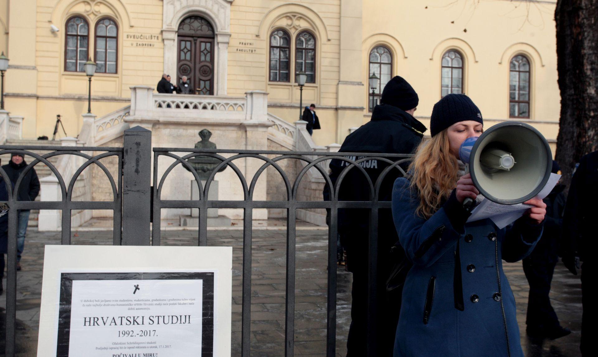Najavljen štrajk na Hrvatskim studijima, nastavljena studentska blokada
