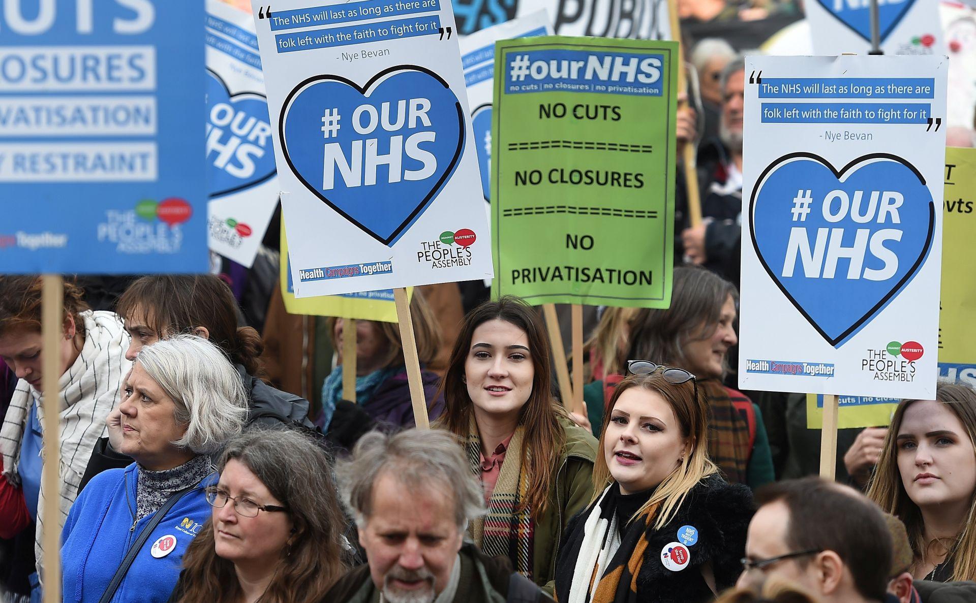 Tisuće ljudi u Londonu brane javni zdravstveni sustav