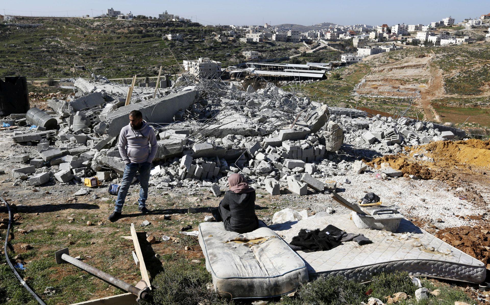 Mimohod Palestinki i Izraelki na Zapadnoj obali protiv okupacije