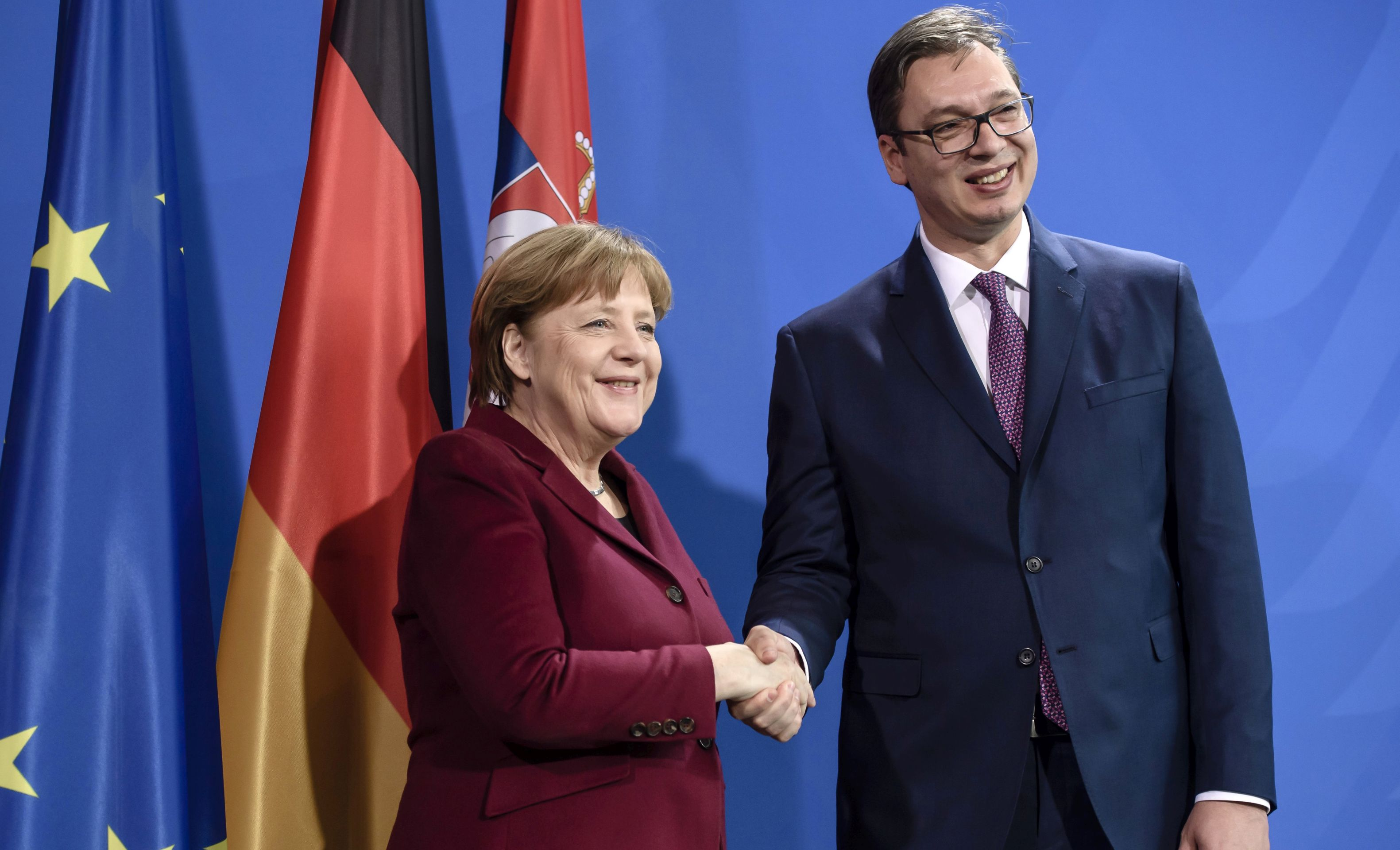 Merkel poduprla Vučićevu proeuropsku politiku i nastojanja da riješi odnose s Kosovom