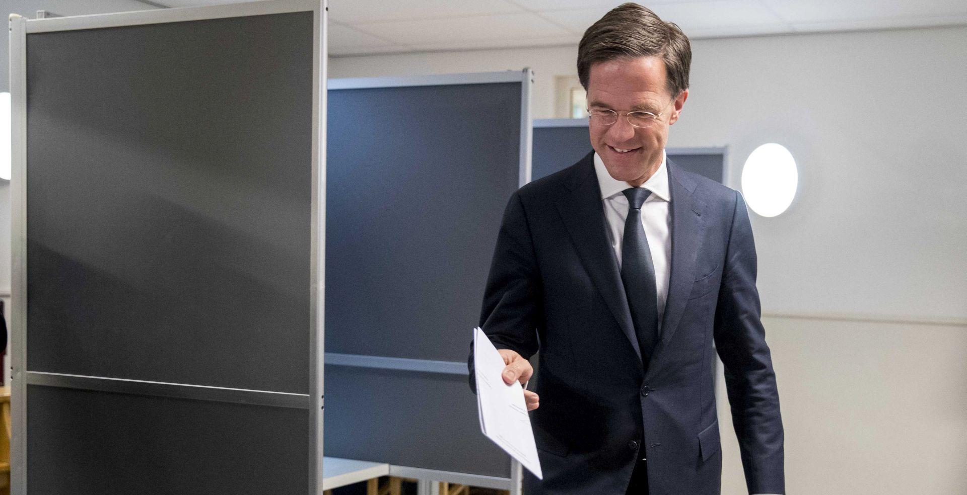IZLAZNE ANKETE Rutte u vodstvu, desničar Wilders podbacio