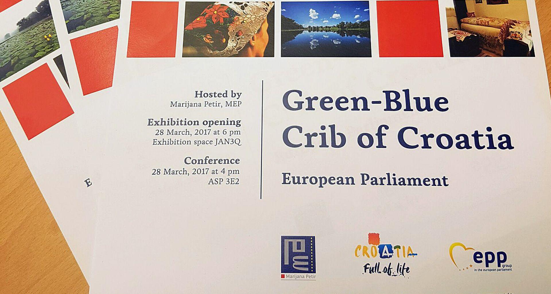 """Izložba """"Zeleno-plava zipka Hrvatske"""" od 28. do 31. ožujka u EU parlamentu"""