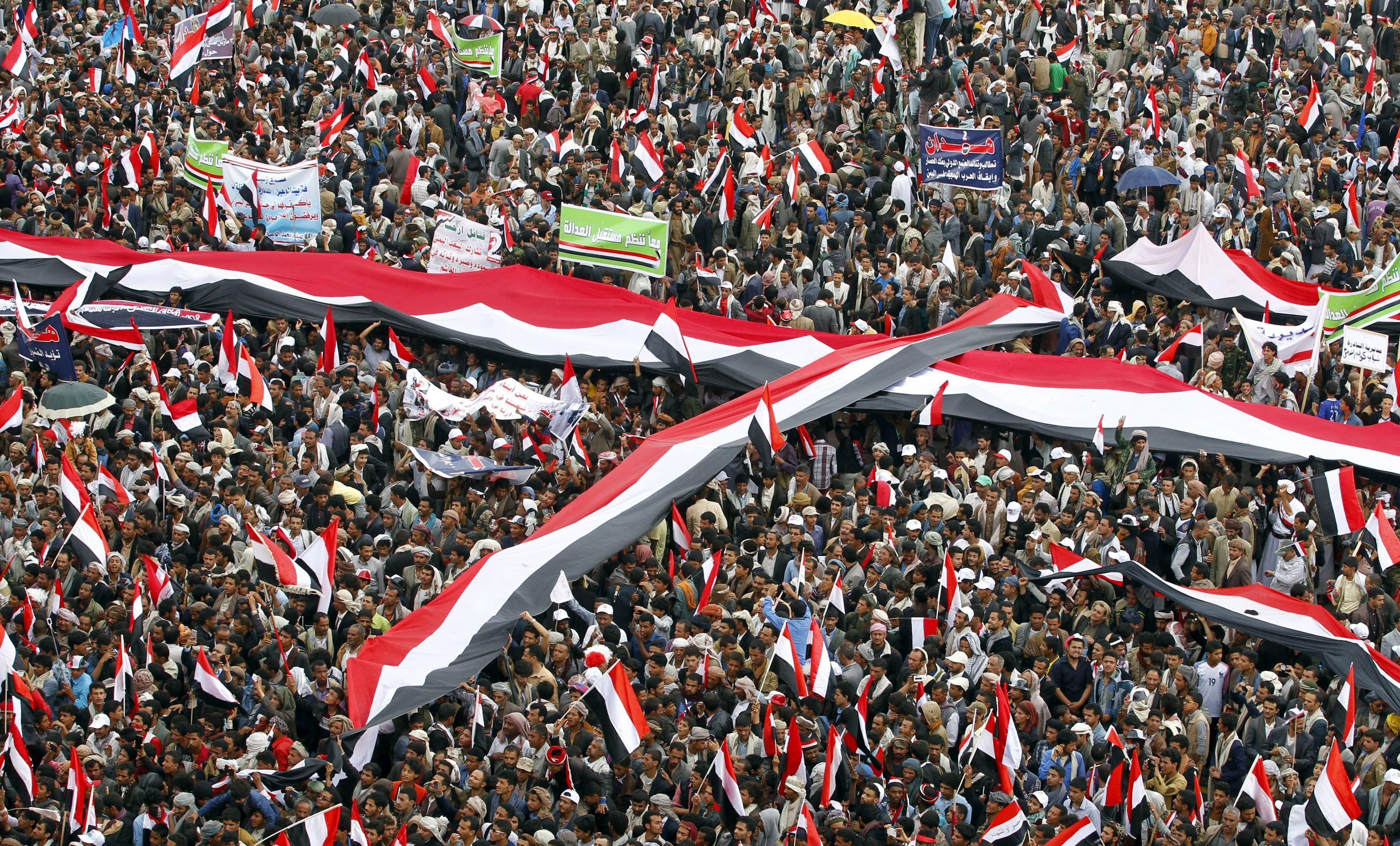 Na drugu godišnjicu Jemenci prosvjedovali protiv saudijskih snaga