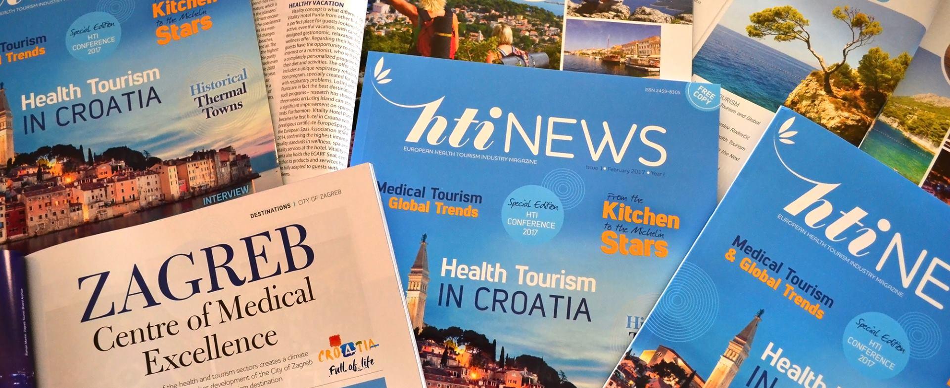 HTI NEWS Hrvatska tvrtka izdavač prvog europskog glossy časopisa posvećenog zdravstvenom turizmu