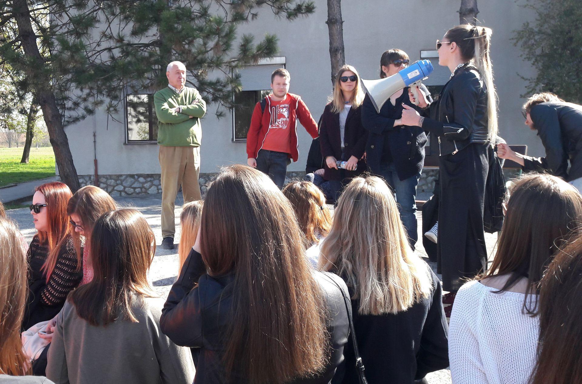 SEDMI DAN: Studenti Hrvatskih studija nastavljaju blokadu nastave