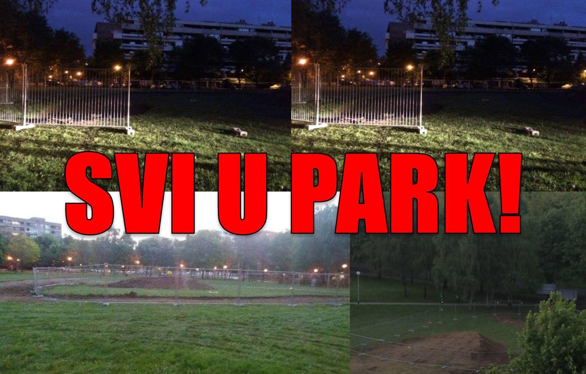 SAVICA Građani čuvaju park, stigla policija