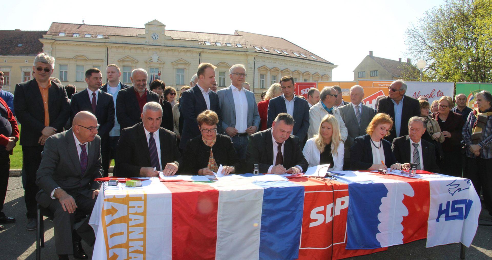 Potpisan koalicijski sporazum SDP-a, HSS-a, HNS-a, HSU-a i Hrvatskih laburista