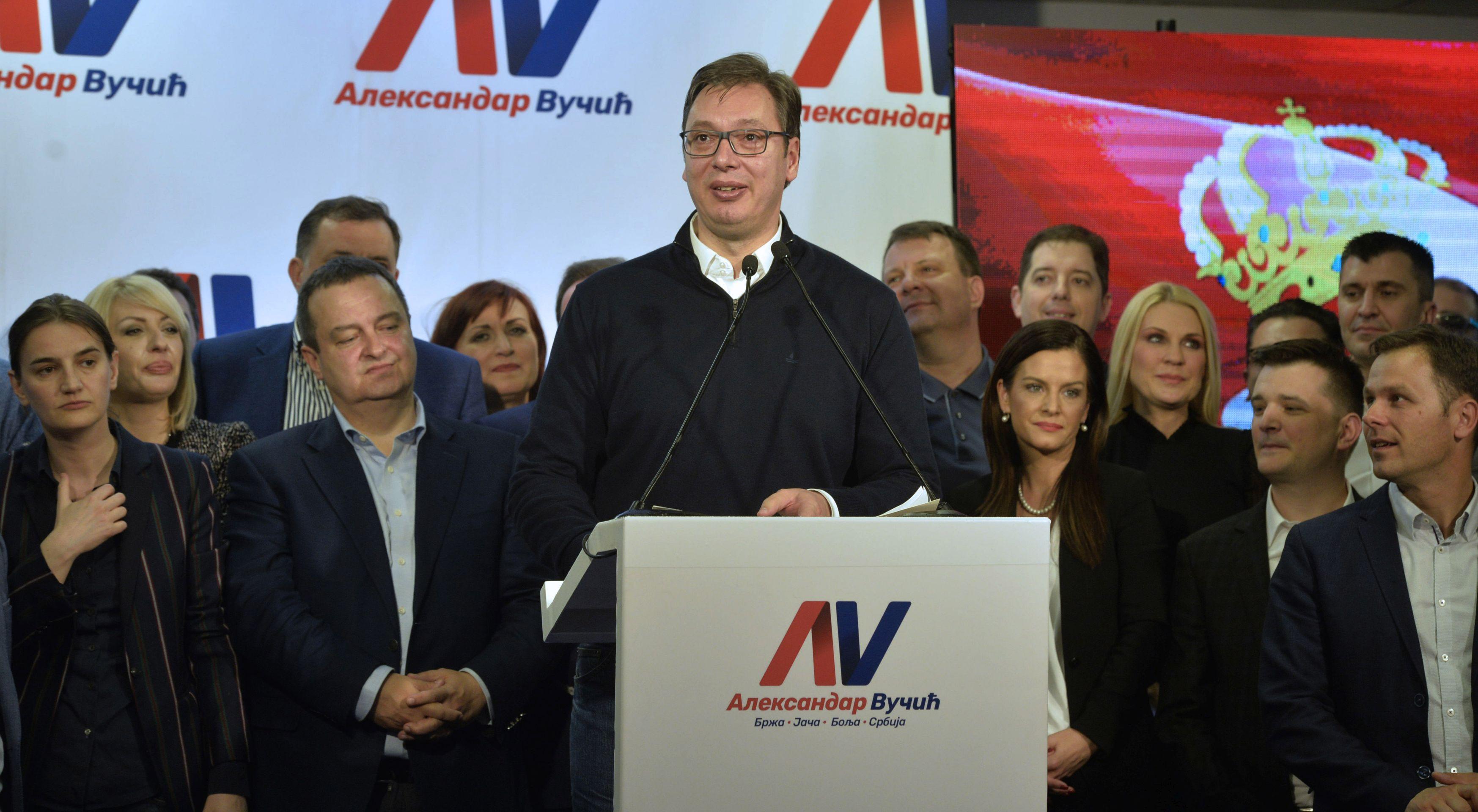Prosvjednici u Beogradu izražavaju sumnje u regularnost predsjedničkih izbora