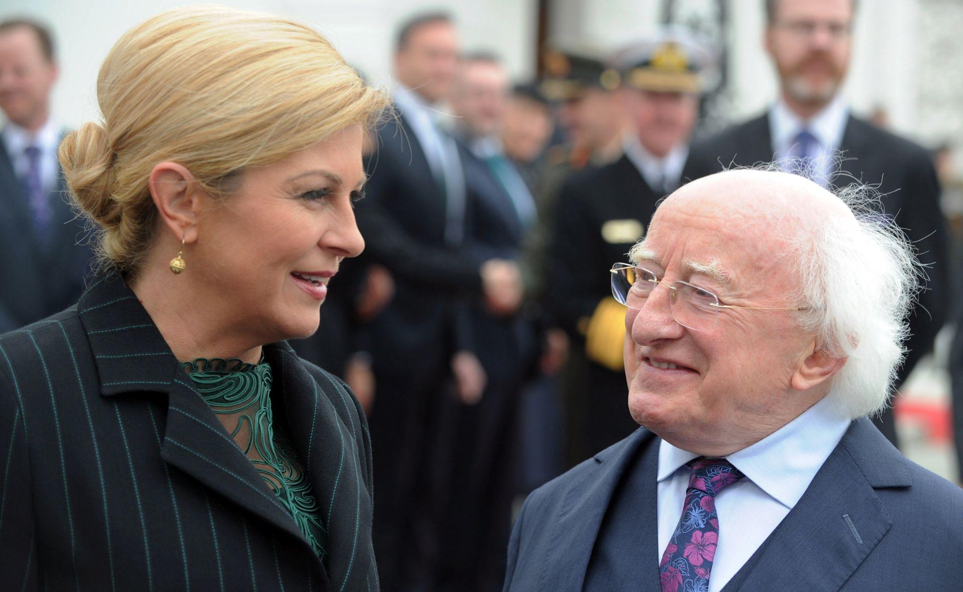 Predsjednica Grabar-Kitarović se u Dublinu susrela s iseljenim Hrvatima