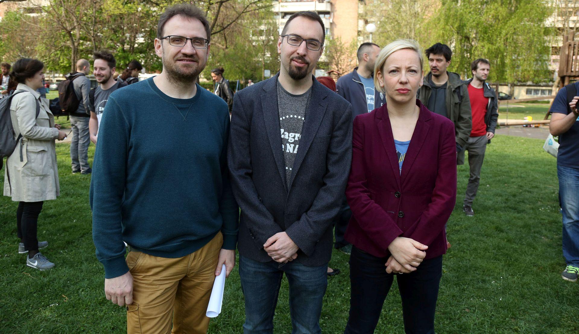 Tomislav Tomašević kandidat platforme 'Zagreb je naš!' za zagrebačkog gradonačelnika