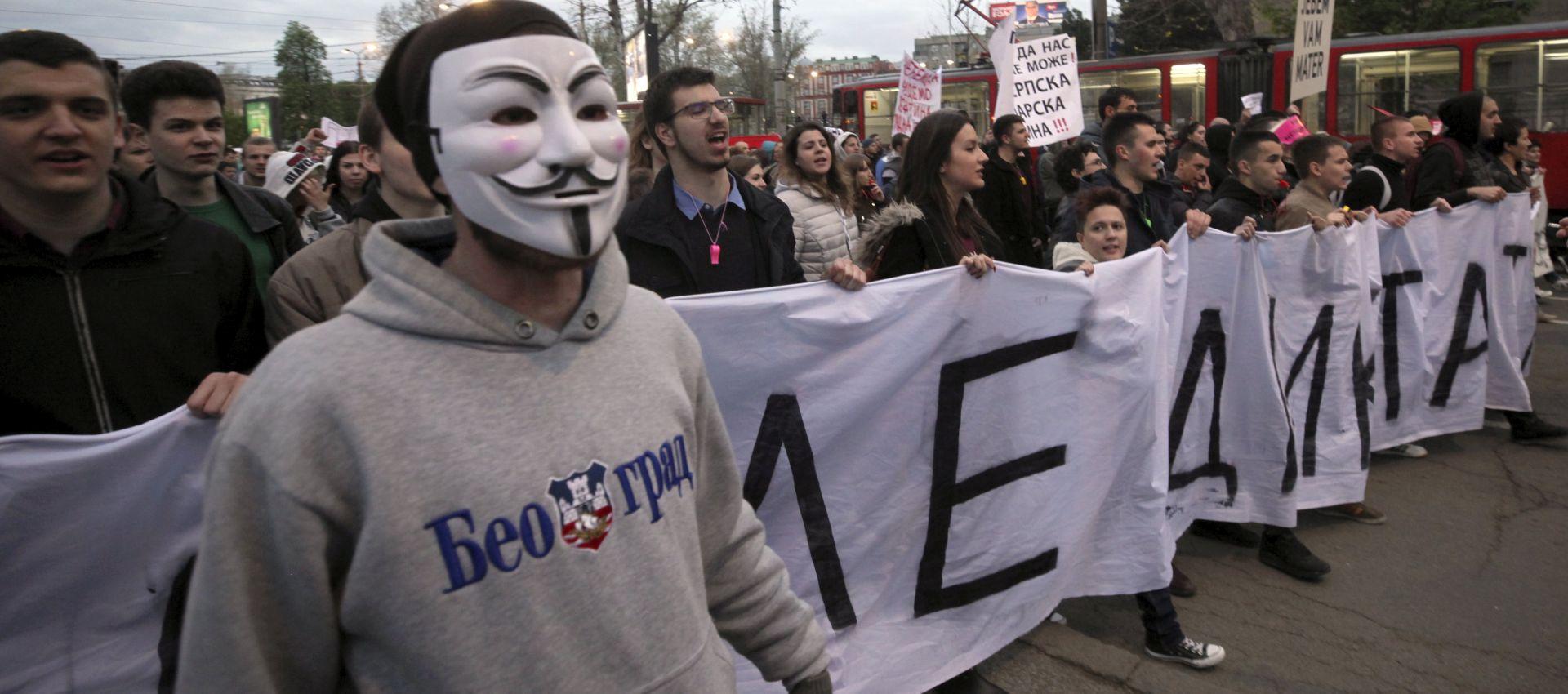 Potpora zagrebačkih studenata kolegama koji prosvjeduju u Beogradu