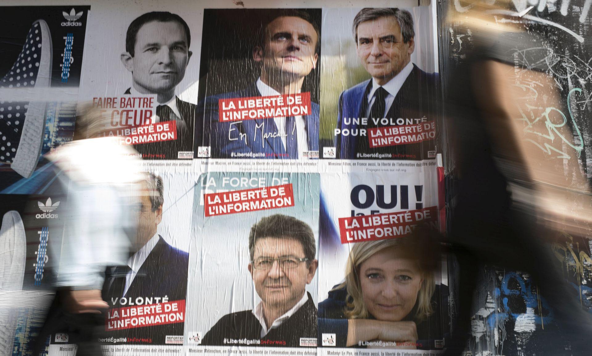 Četvero kandidata za francuske predsjedničke izbore gotovo u mrtvoj trci