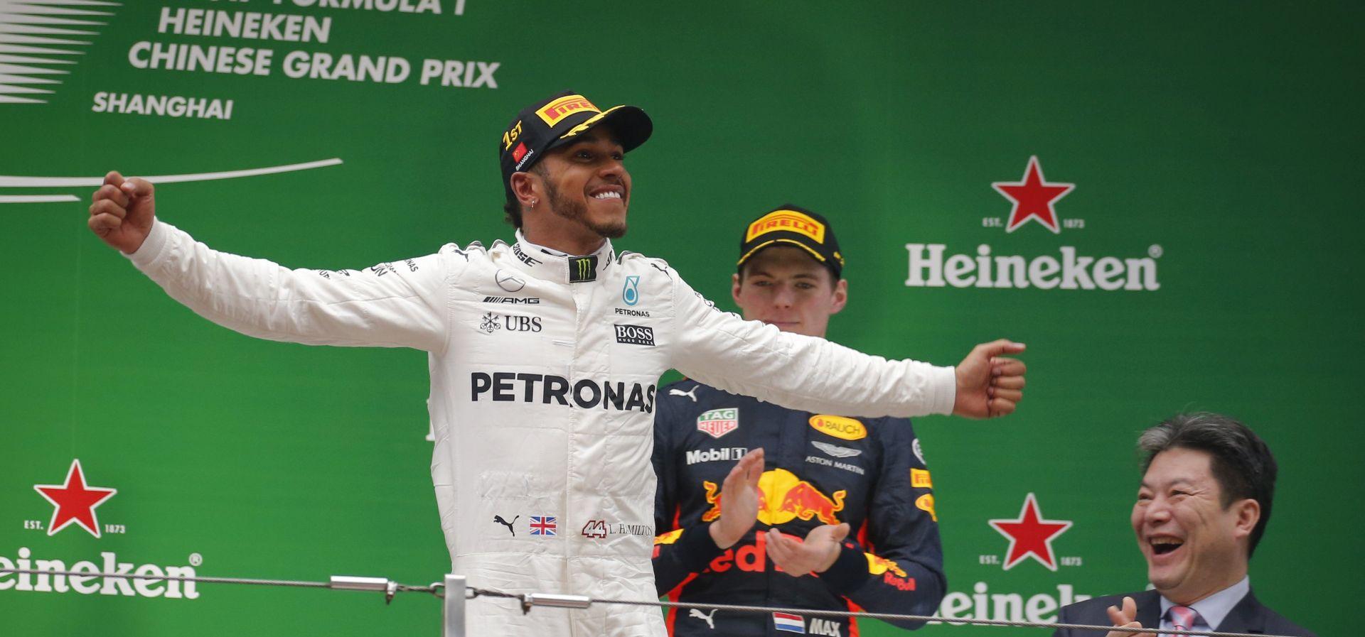 FORMULA: VELIKA NAGRADA KINE Lewis Hamilton odnio pobjedu