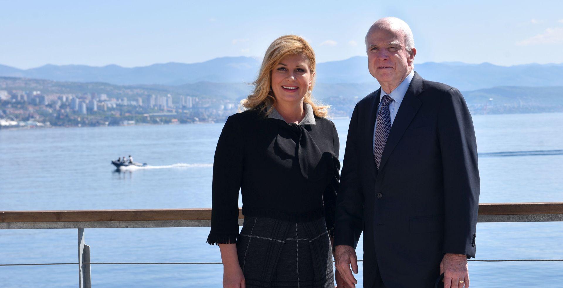 SUSRET S PREDSJEDNICOM I PREMIJEROM Američki senator John McCain u Opatiji i Dubrovniku