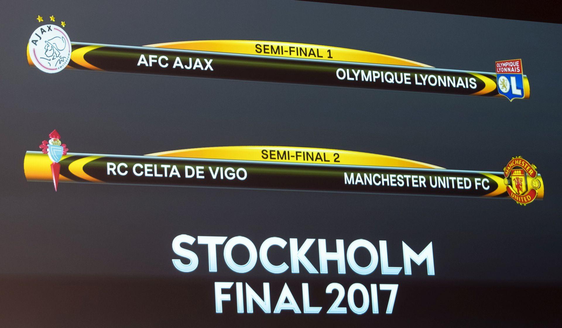EUROPA LIGA United u polufinalu protiv Celte, Ajax na Lyon