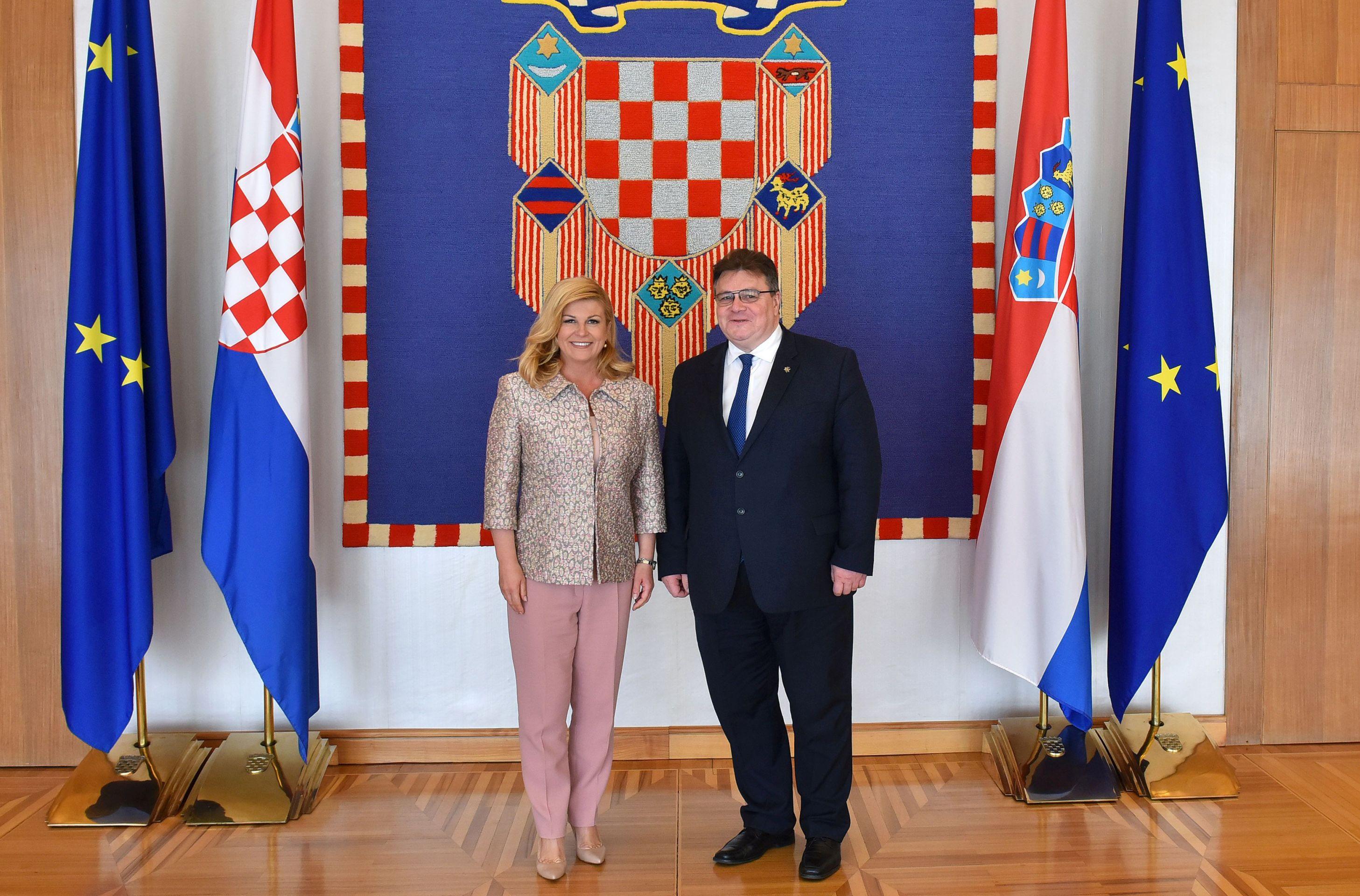 Predsjednica primila litavskog ministra vanjskih poslova