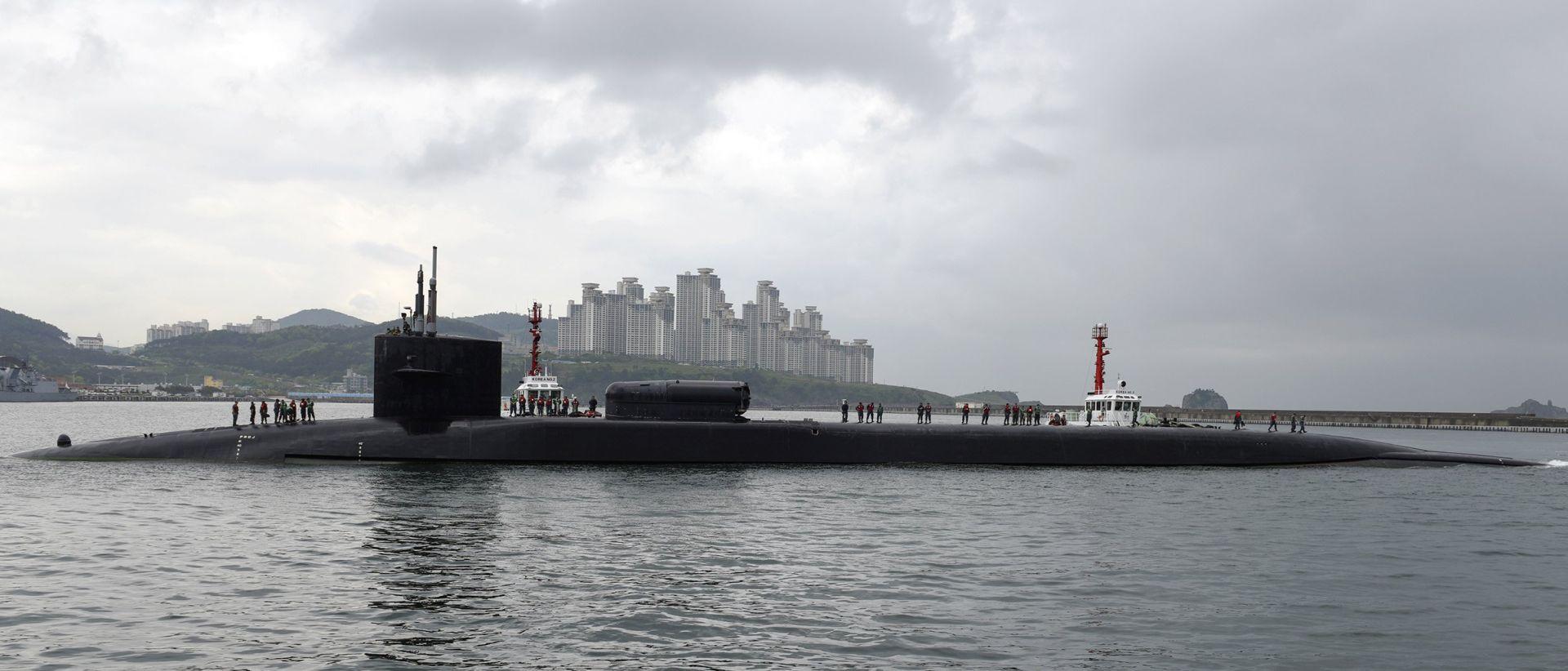 Velike vojne vježbe u Sjevernoj Koreji, američka podmornica u Južnoj Koreji