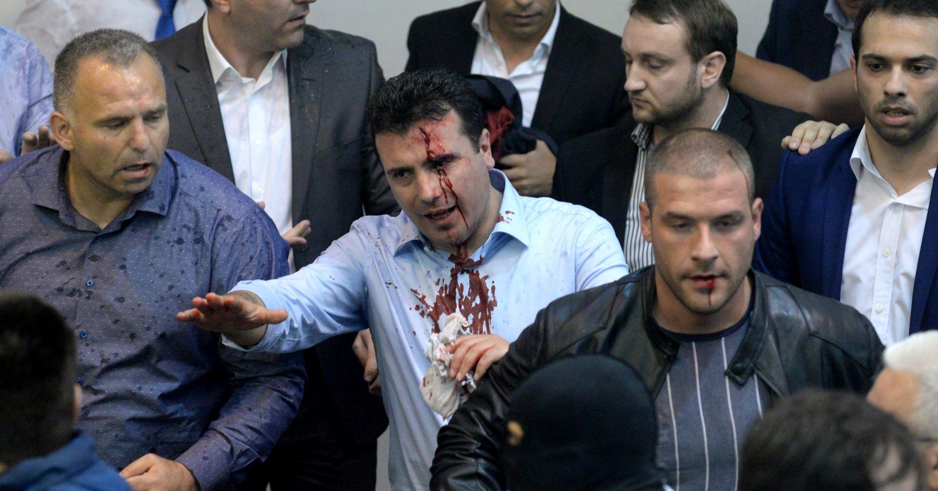 VIDEO: Prosvjednici ušli u Sobranje nakon izbora Xhaferija za predsjednika parlamenta