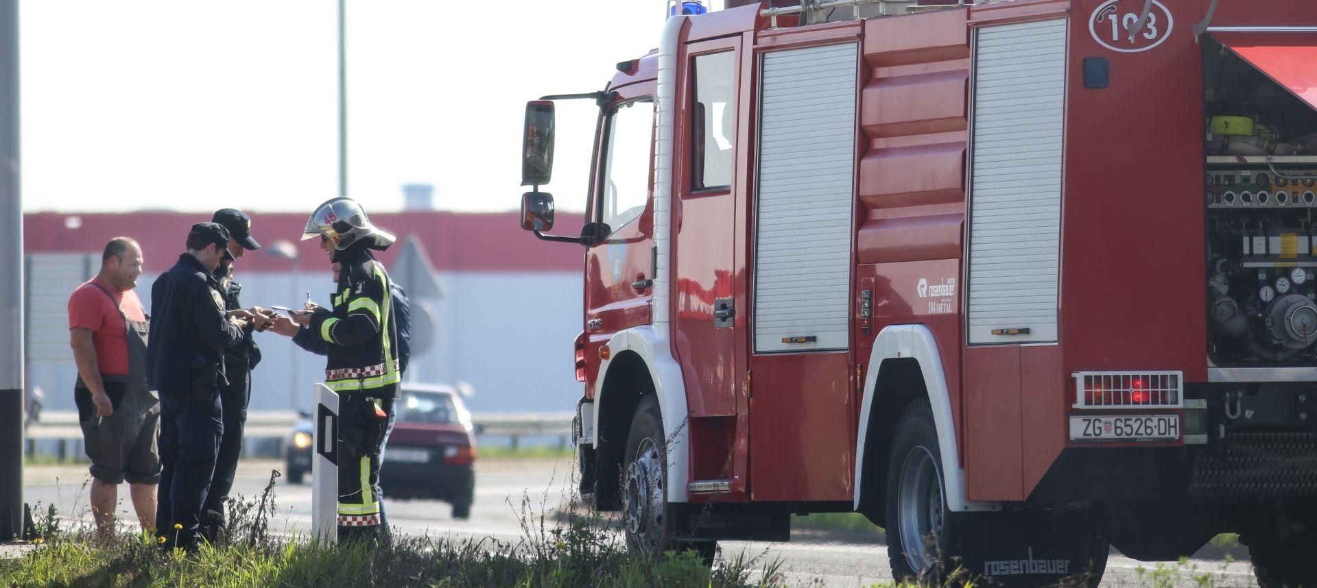 Ugašen požar u krugu pogona Beton-Lučko