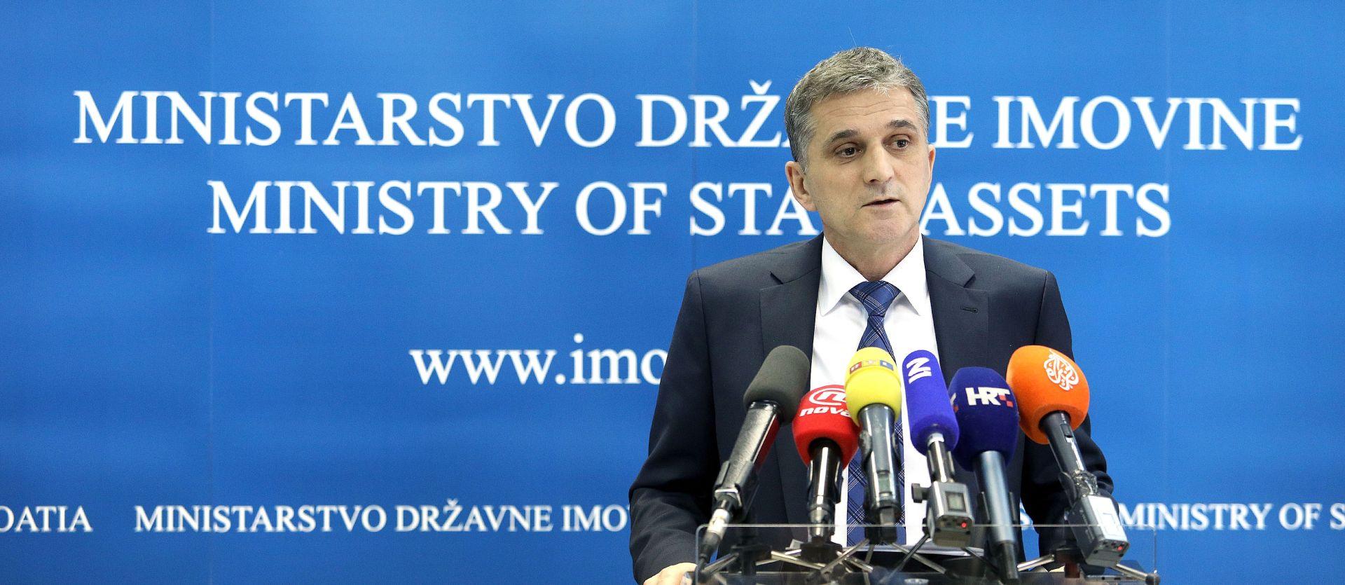 MINISTAR GORAN MARIĆ: Državna imovina može znatno pridonijeti proračunu
