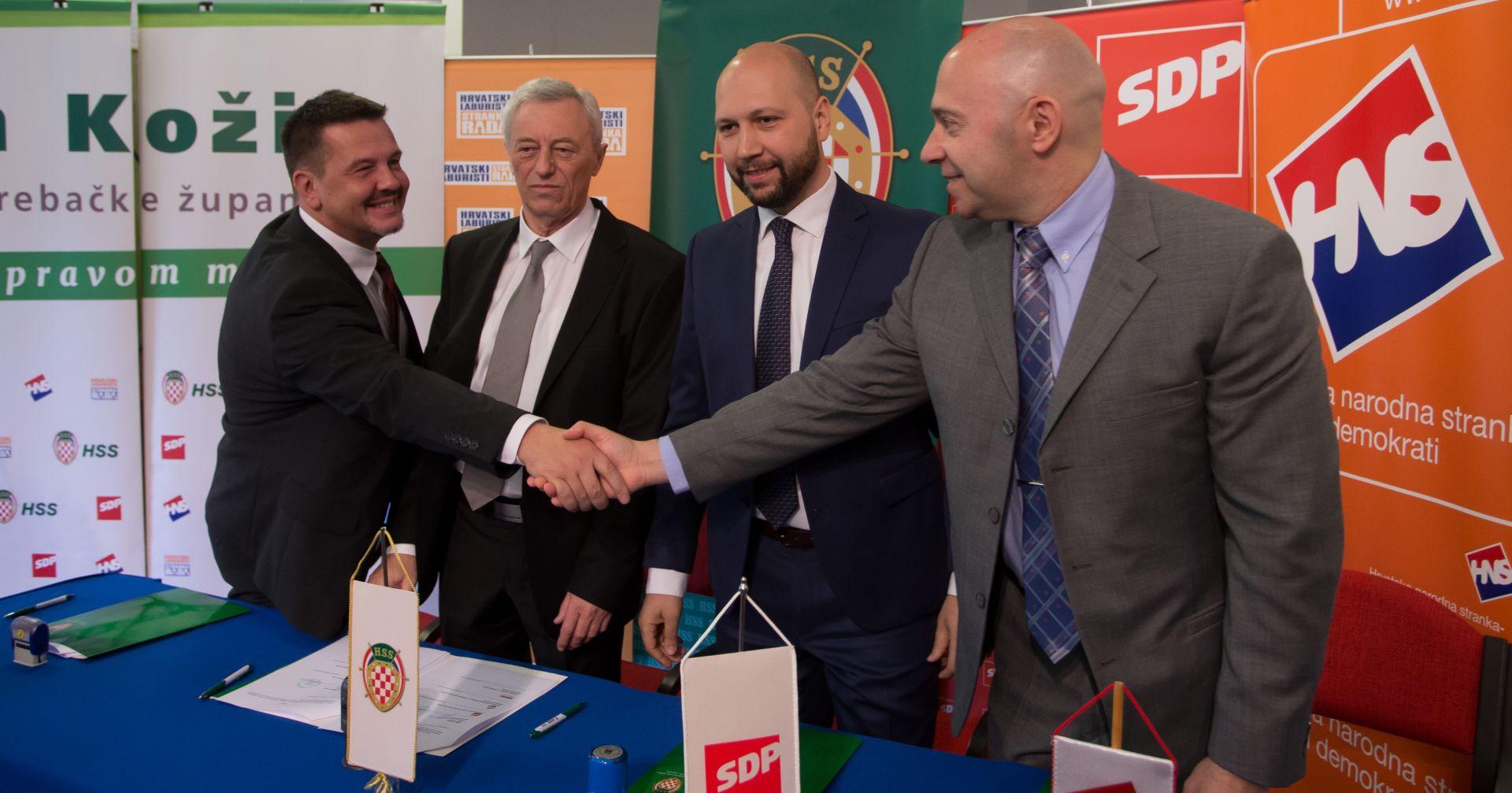 Potpisani sporazumi HSS-a i SDP-a za Samobor te HSS-a, SDP-a, HNS-a i Laburista za Zagrebačku županiju