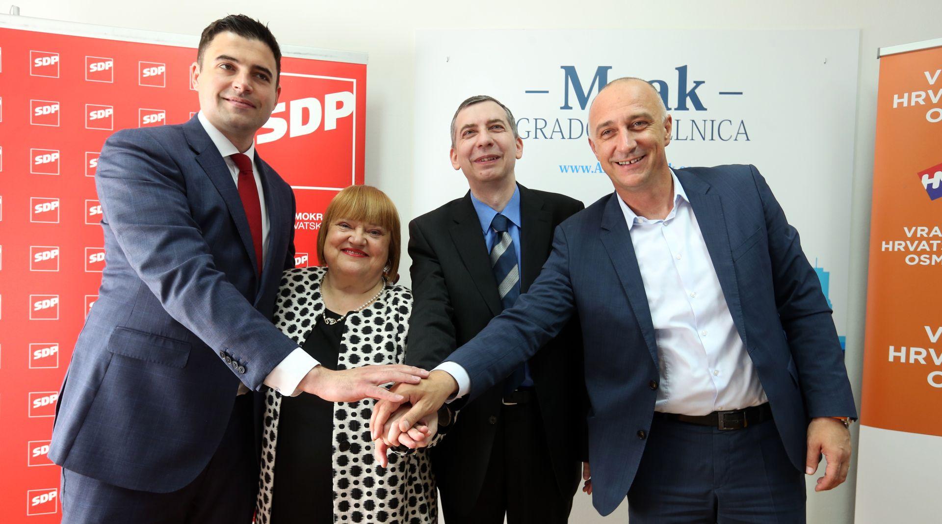 SDP i HNS potpisali sporazum o zajedničkom nastupu u Zagrebu