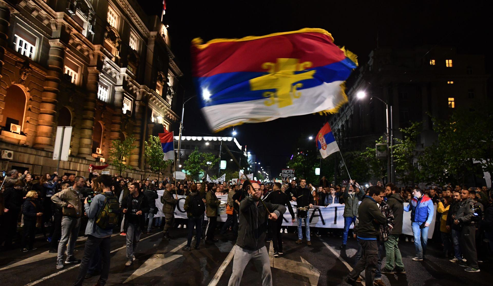 Srbijanski studenti četvrti dan prosvjeduju protiv izbora Aleksandra Vučića za predsjednika