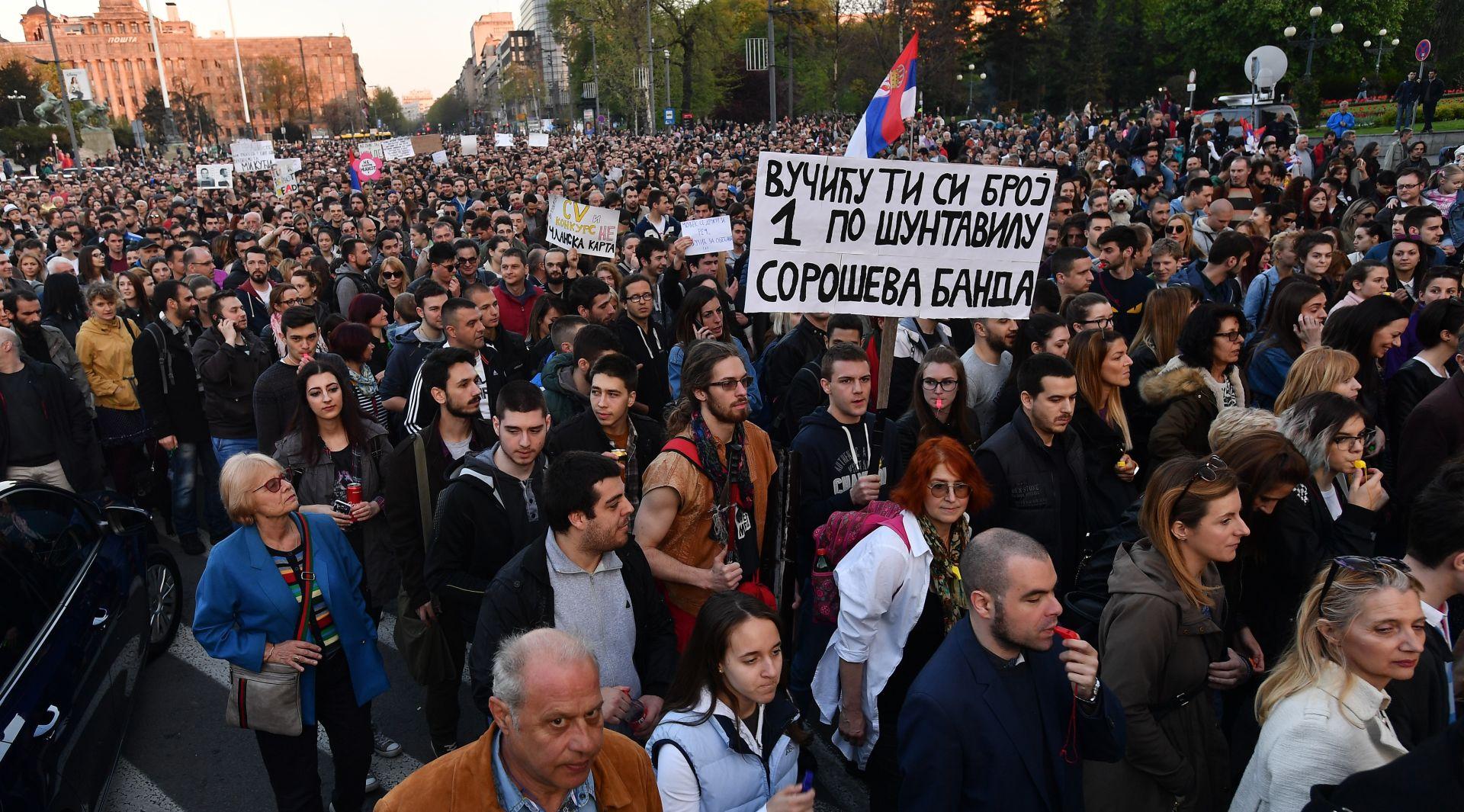 SRBIJA Sedmi dan prosvjeda protiv Vučićeve pobjede