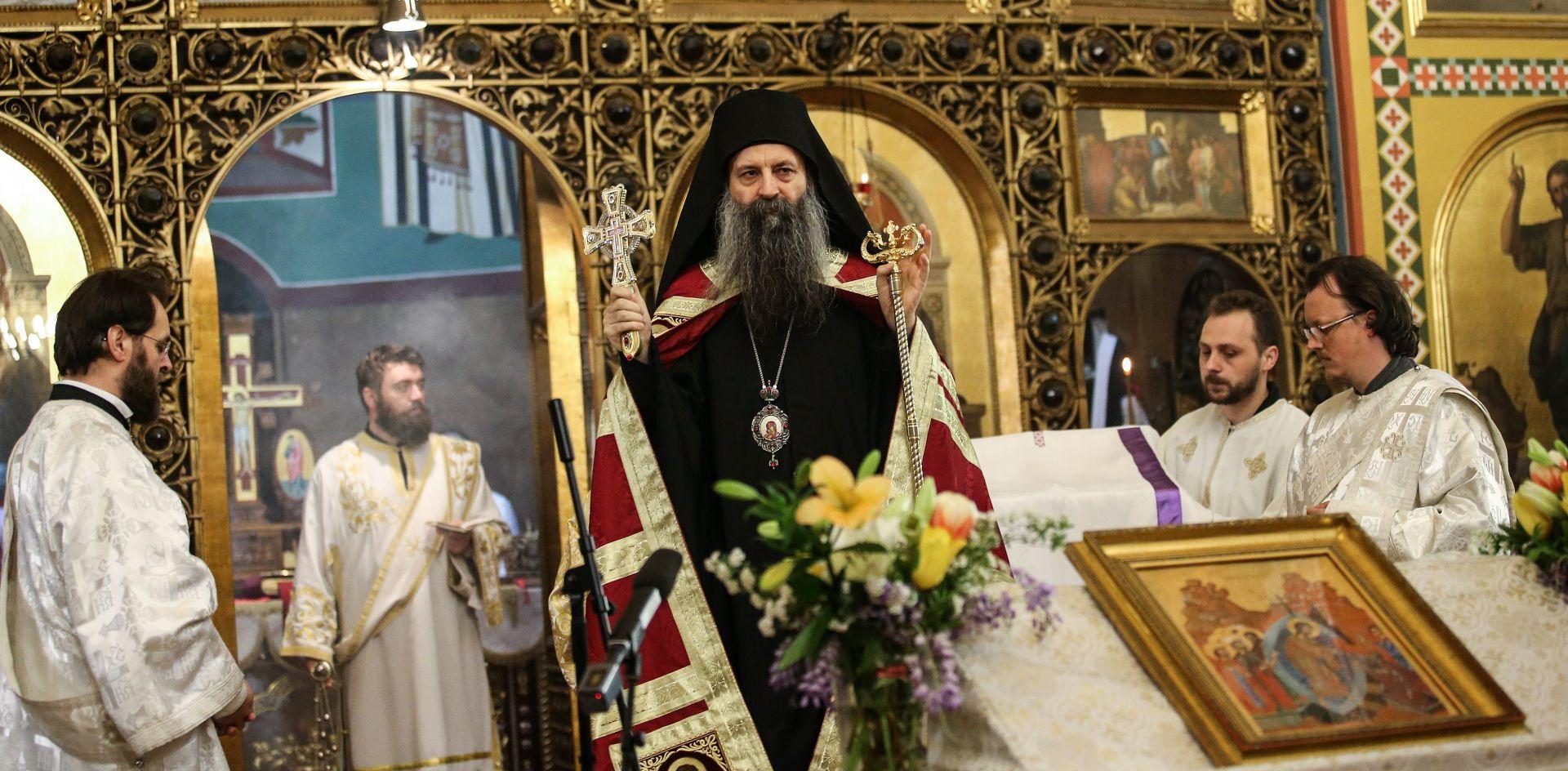 Mitropolit Porfirije služio Uskrsnu liturgiju u Sabornom hramu Preobraženja Gospodnjeg u Zagrebu