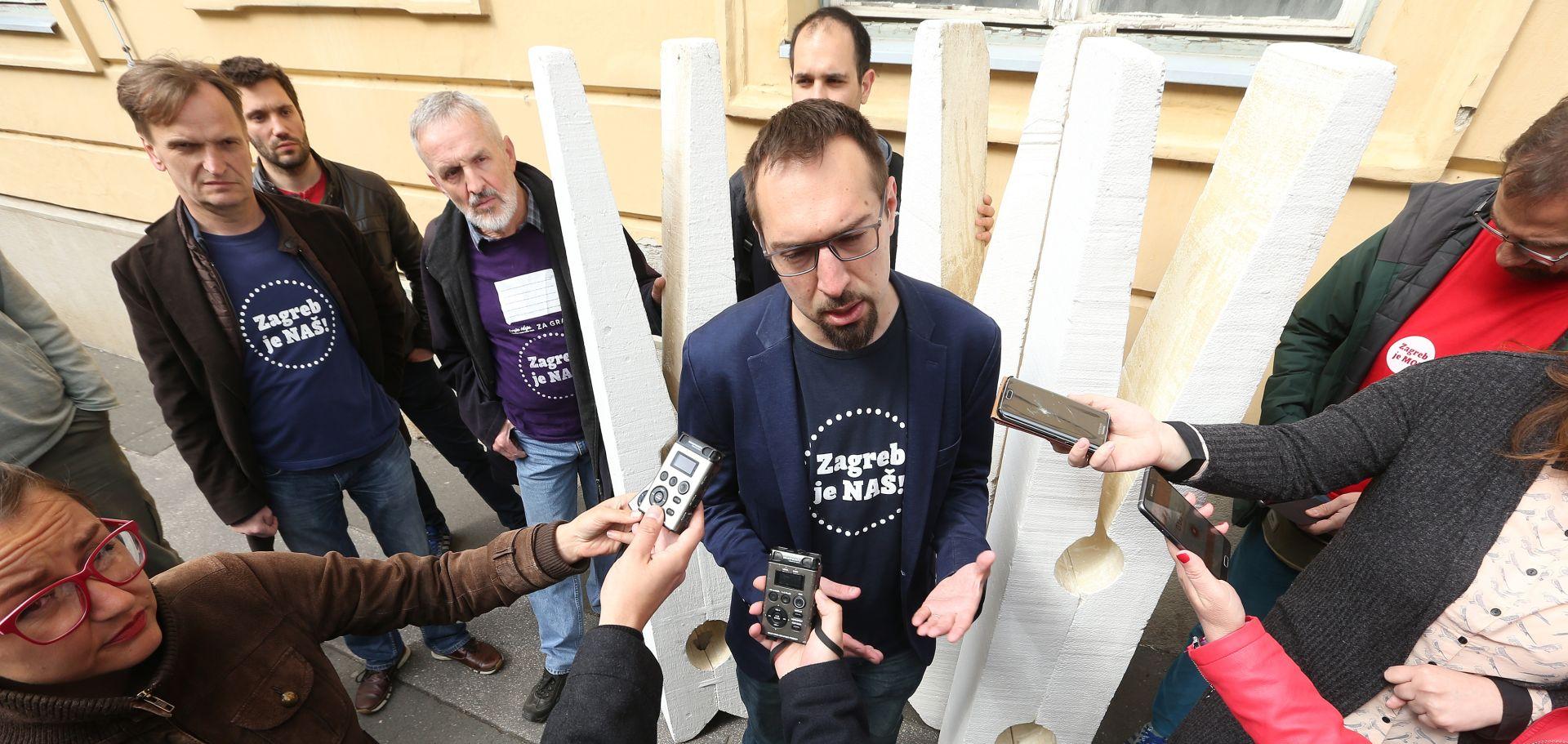 ZAGREB Sjednica Gradske skupštine, zadnja u mandatu, dočekana prosvjedima