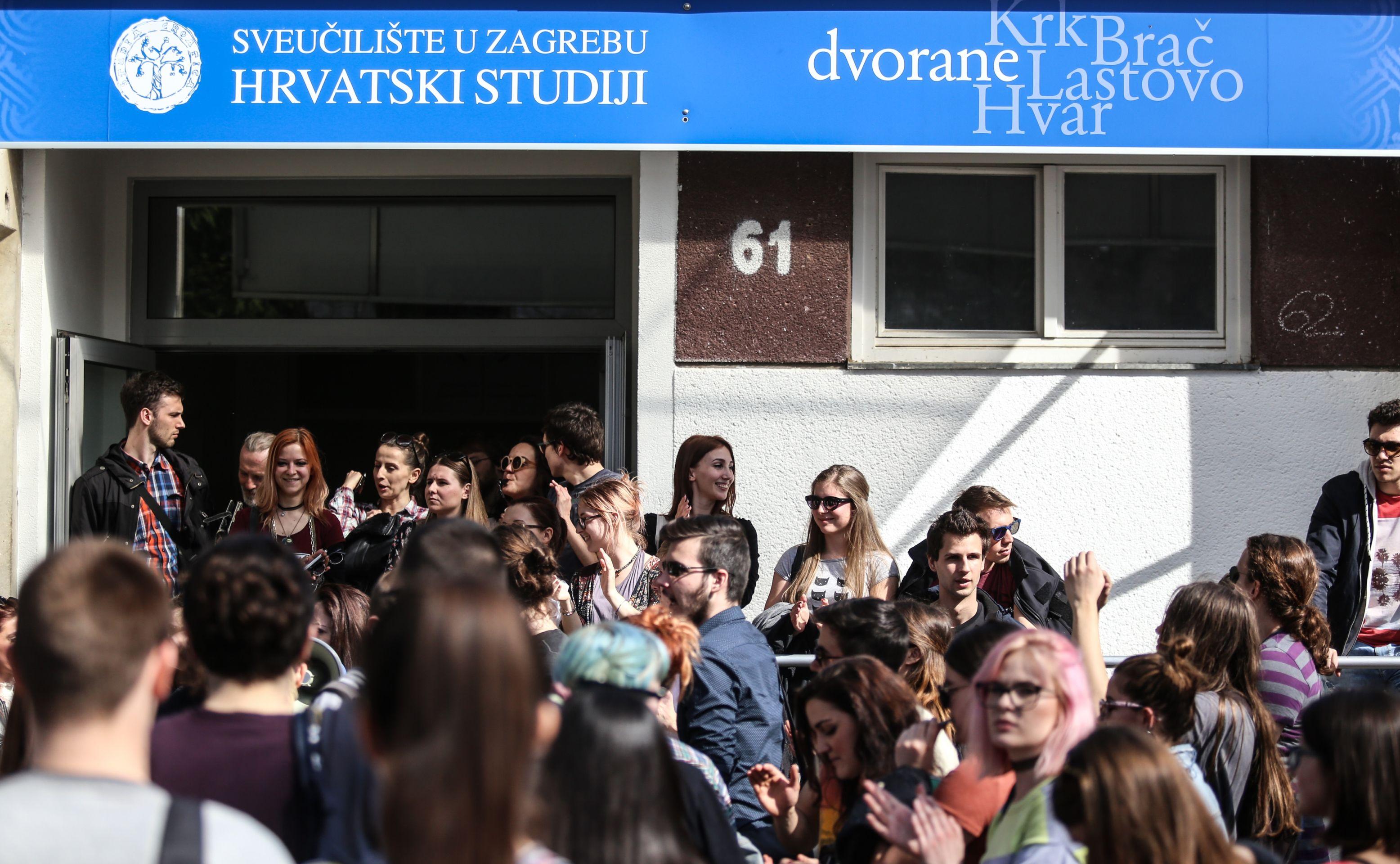 Profesori Hrvatskih studija članovi Sindikata znanosti i visokog obrazovanja stupili u štrajk