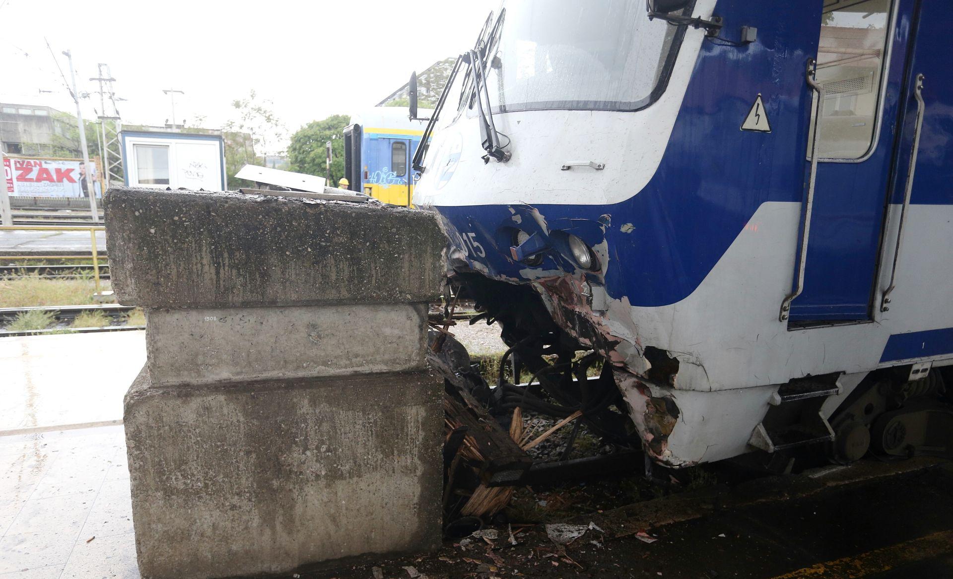 U Zagrebu vlak udario u betonski blok, nema ozlijeđenih
