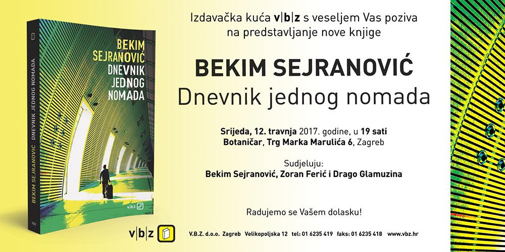 Poziv na predstavljanje nove knjige 'Dnevnik jednog nomada'