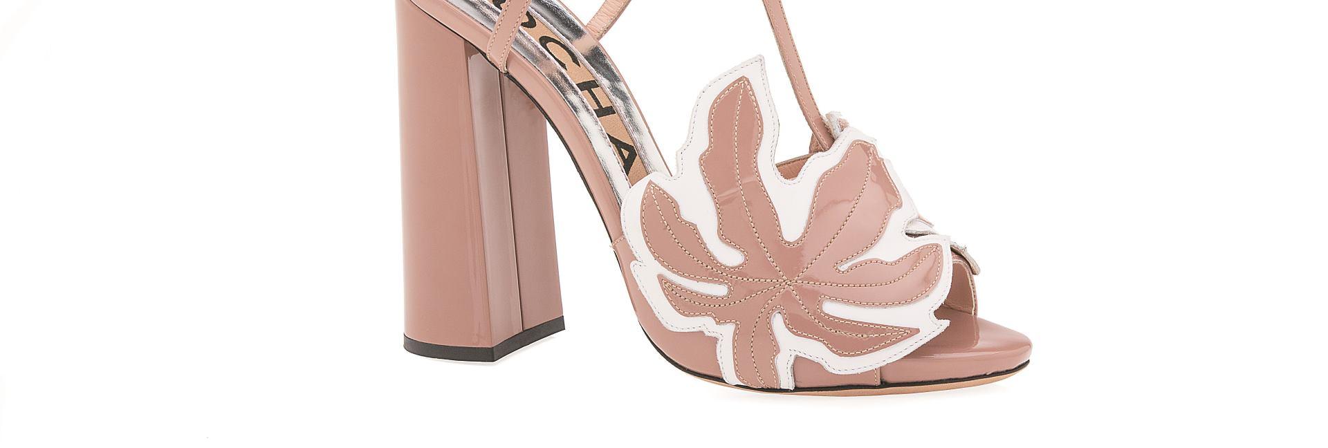 Rochas sandale sa cvjetnim motivima