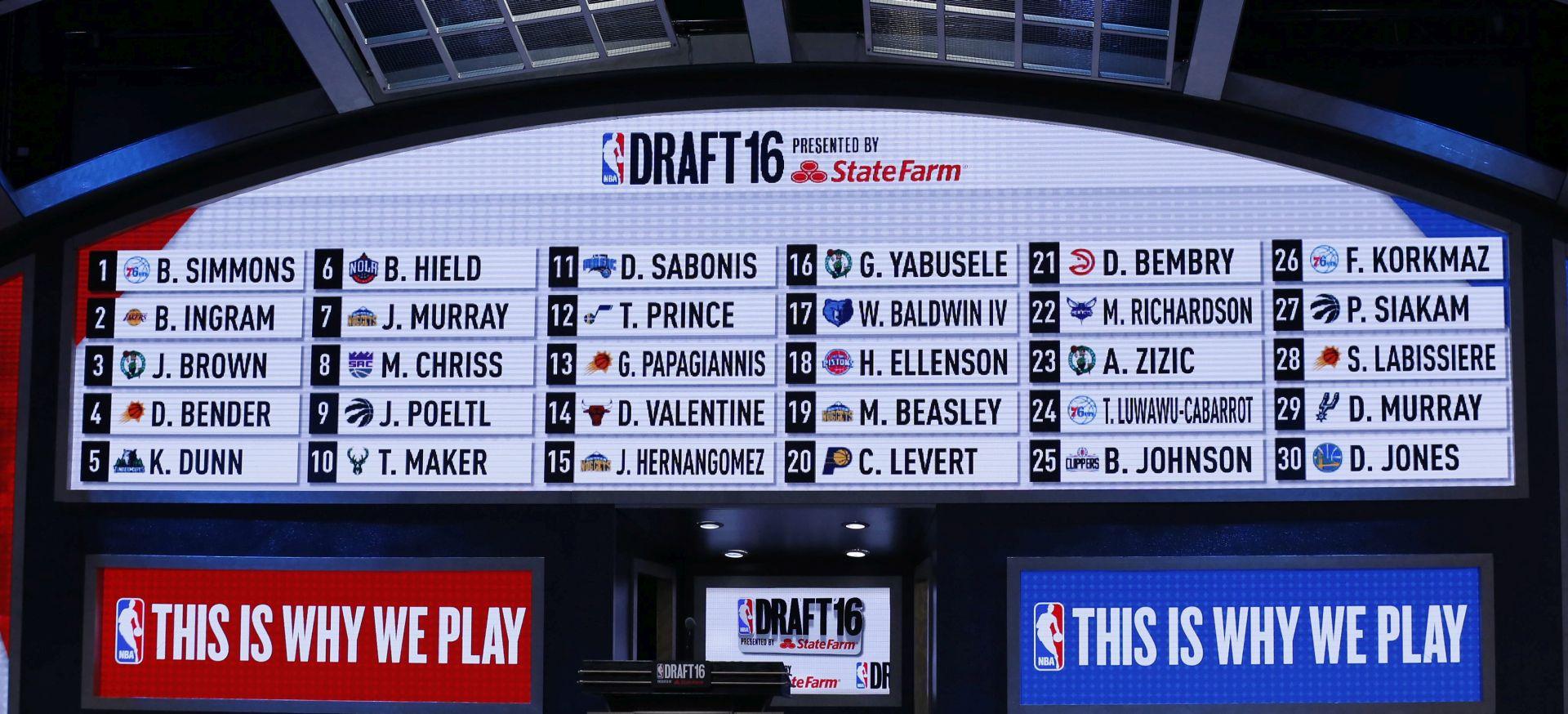 NBA DRAFT Boston bira prvi, Lakersi drugi, a Philadelphia treća