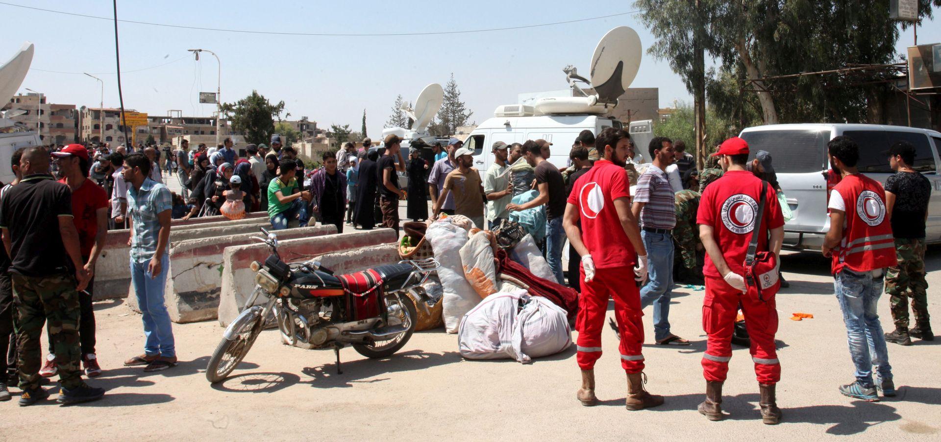 Iz predgrađa Damaska evakuirano više od 2000 pobunjenika i civila