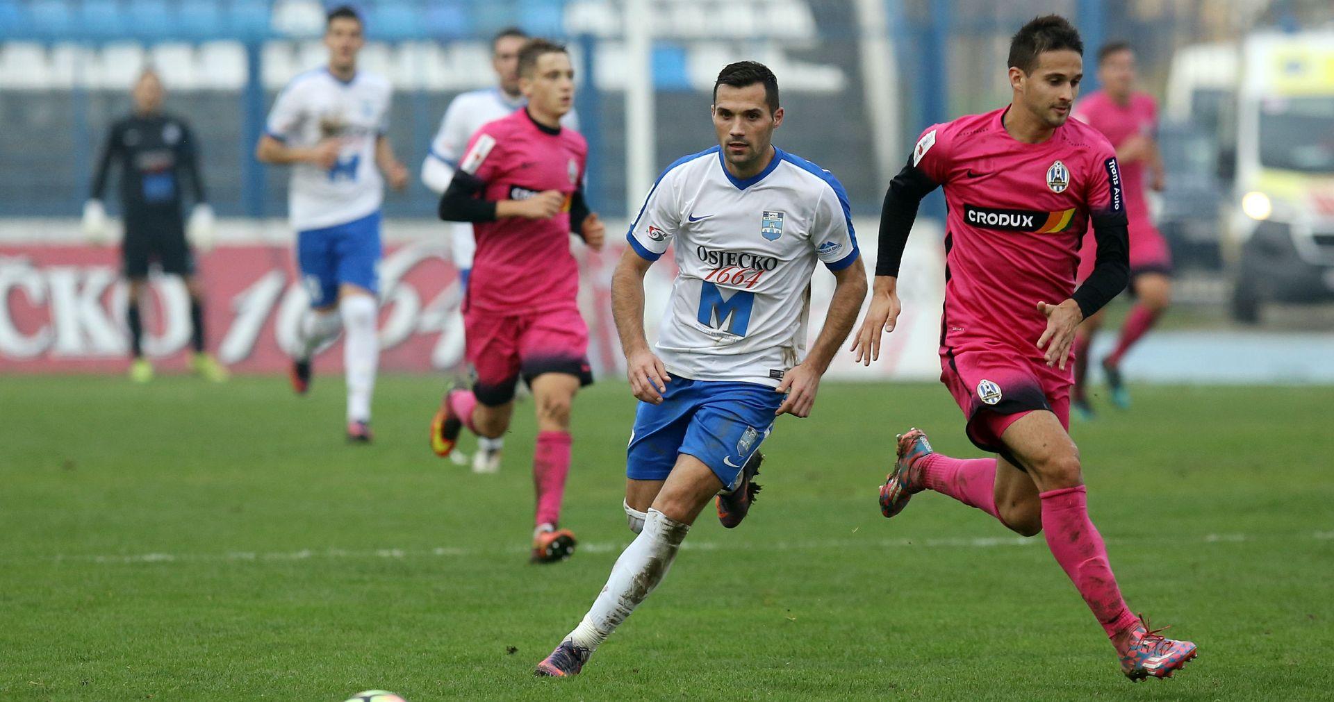 HNL Osijek se bodovno izjednačio s Hajdukom
