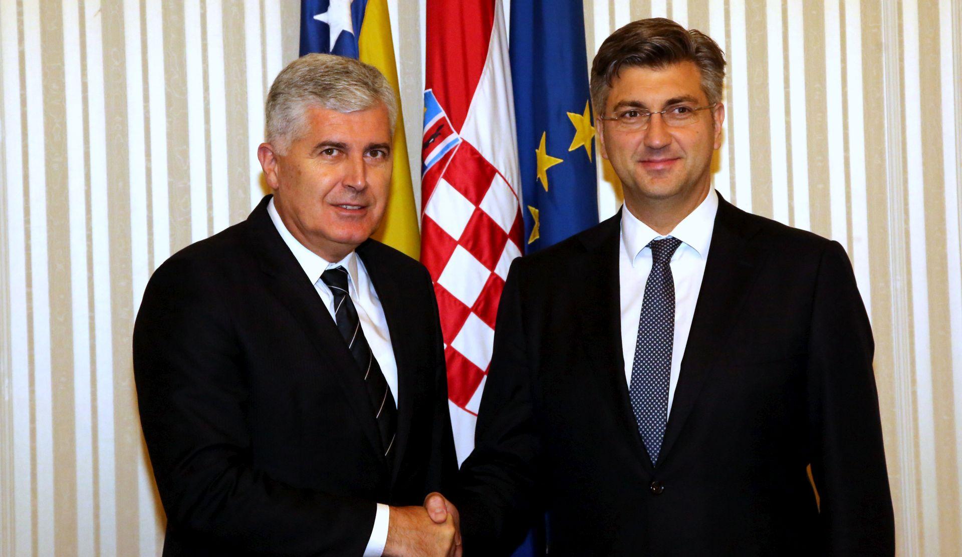 Plenković najavio potporu BiH za stjecanje statusa kandidata s EU
