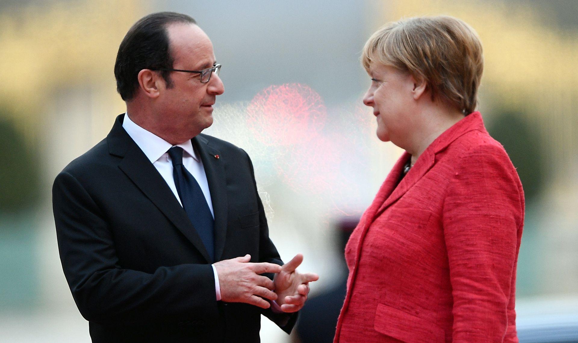 Merkel prima Hollandea u oproštajni posjet nakon francuskih izbora